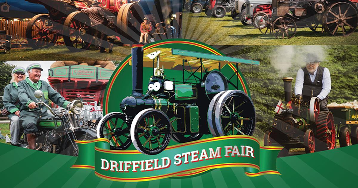 driff steam fair og